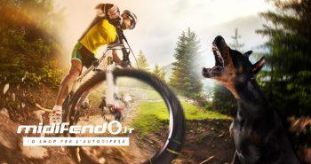 sport all'aperto ciclismo cane